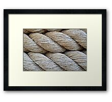 Rope Texture Framed Print