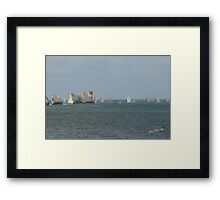 Round the Island Race at the Needles Framed Print