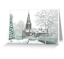 Horsforth Leeds Church in Winter Greeting Card