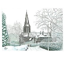 Horsforth Leeds Church in Winter Photographic Print