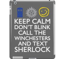 SUPERWHOLOCK SUPERNATURAL DOCTOR WHO SHERLOCK iPad Case/Skin