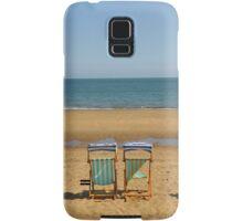 Deck Chairs on Sandown Beach Samsung Galaxy Case/Skin