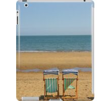 Deck Chairs on Sandown Beach iPad Case/Skin
