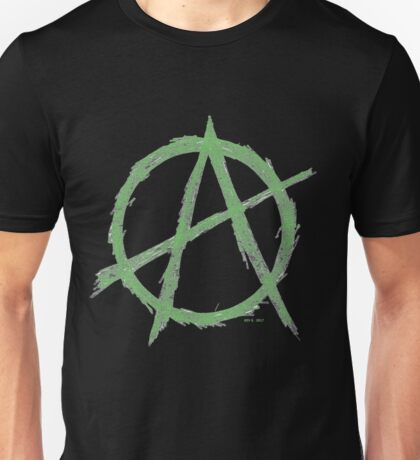 ANARCHY IN GREEN Unisex T-Shirt