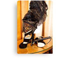 Corset, Heels and a Baton Canvas Print