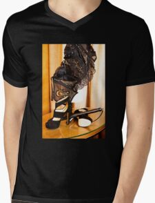 Corset, Heels and a Baton Mens V-Neck T-Shirt