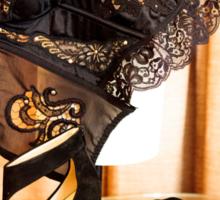 Corset, Heels and a Baton Sticker