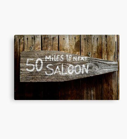 Wild West Saloon Sign Canvas Print