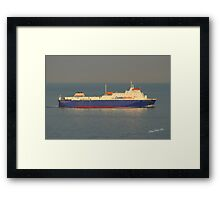 Commodore Goodwill in the Solent Framed Print