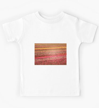 Tulip Fields in Stained Glass Kids Tee