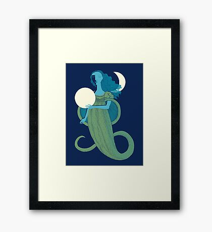 Moonlight Mermaid Framed Print