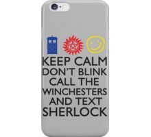 SUPERWHOLOCK SUPERNATURAL DOCTOR WHO SHERLOCK iPhone Case/Skin