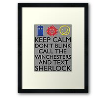 SUPERWHOLOCK SUPERNATURAL DOCTOR WHO SHERLOCK Framed Print