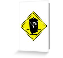 TARDIS Crossing Greeting Card