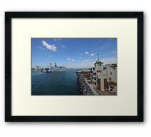 Mont St. Michel Entering Portsmouth Framed Print