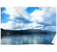 Lake Background Poster
