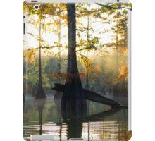 Cypress Trees basking in the Sunrise iPad Case/Skin