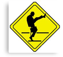 Silly Walks Crossing Canvas Print