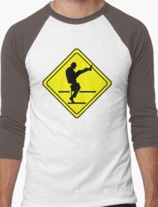 Silly Walks Crossing Men's Baseball ¾ T-Shirt