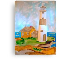 The Lighthouse by the Sea Canvas Print