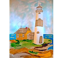 The Lighthouse by the Sea Photographic Print