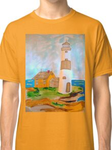 The Lighthouse by the Sea Classic T-Shirt