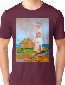 The Lighthouse by the Sea Unisex T-Shirt