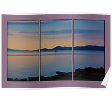 Serenity Tryptych Poster