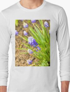 Blue Flower Long Sleeve T-Shirt