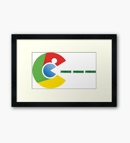 Pac-Chrome Framed Print