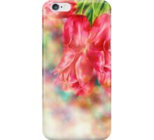 Bokeh Background with Tulips iPhone Case/Skin