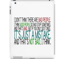 [Black] Just A Mistake iPad Case/Skin