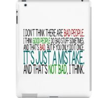 [Black] Just A Mistake iPad Case/Skin