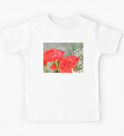 Bouquet with Red Roses 2 Kids Tee