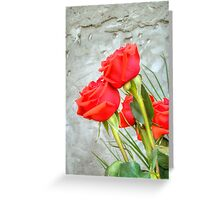 Bouquet with Red Roses 3 Greeting Card