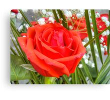 Bouquet with Red Roses 5 Canvas Print