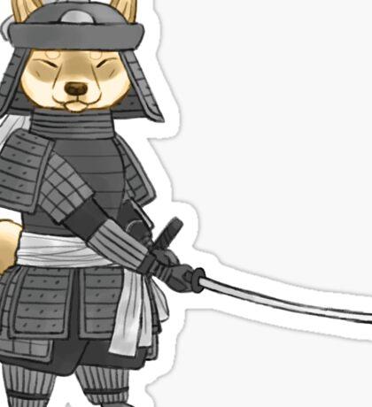 Shiba Samurai Sticker