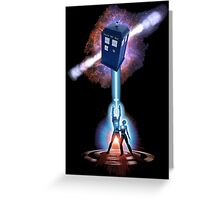 TARDIS TRON Greeting Card