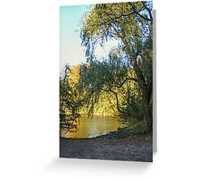 On Golden Waters, the Pocantico River  Greeting Card