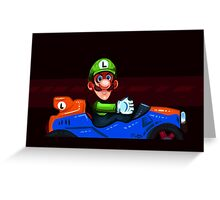 Luigi Death Stare Greeting Card