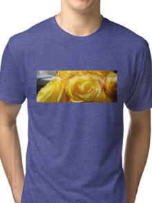 Bright yellow roses 3 Tri-blend T-Shirt