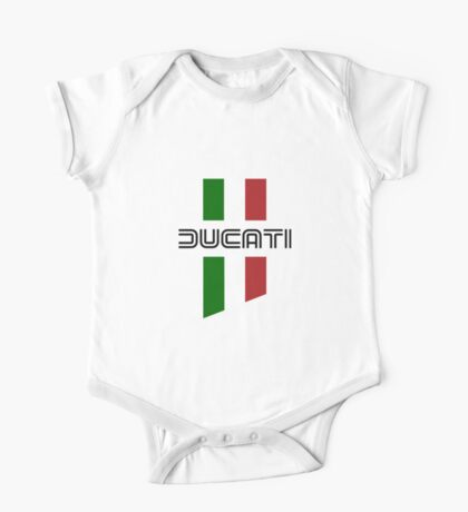 ducati, logo, flag One Piece - Short Sleeve