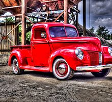 Red truck by High  Octane Image
