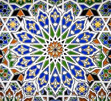 Arabic Style Vintage Patterned Tiles by mrdoomits