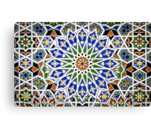 Arabic Style Vintage Patterned Tiles Canvas Print