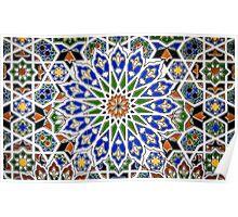 Arabic Style Vintage Patterned Tiles Poster