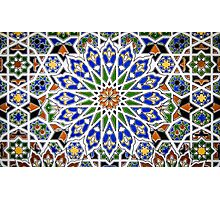 Arabic Style Vintage Patterned Tiles Photographic Print