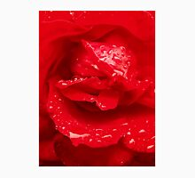 Closeup of Red Rose 2 Womens Fitted T-Shirt