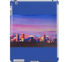 Denver Colorado Skyline With Luminous Rocky Mountains iPad Case/Skin