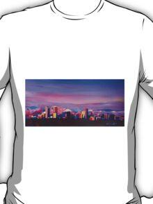 Denver Colorado Skyline With Luminous Rocky Mountains T-Shirt